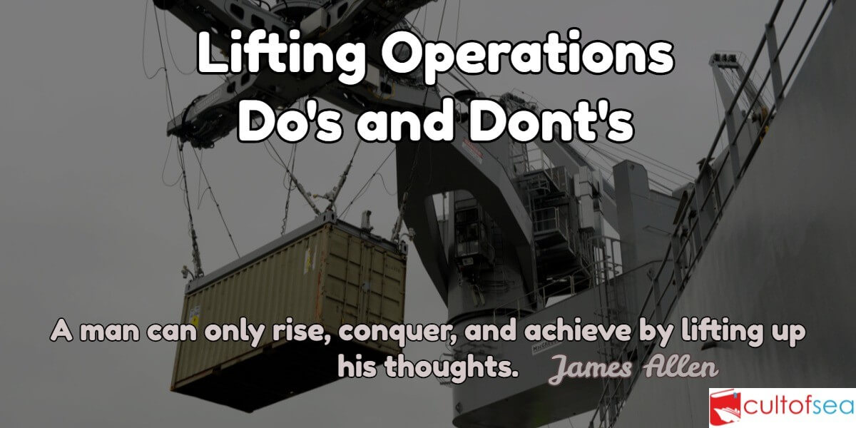 Lifting Operations Onboard Ship