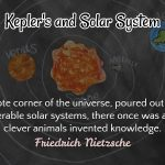 Solar system and Kepler's law of Planetary Motion