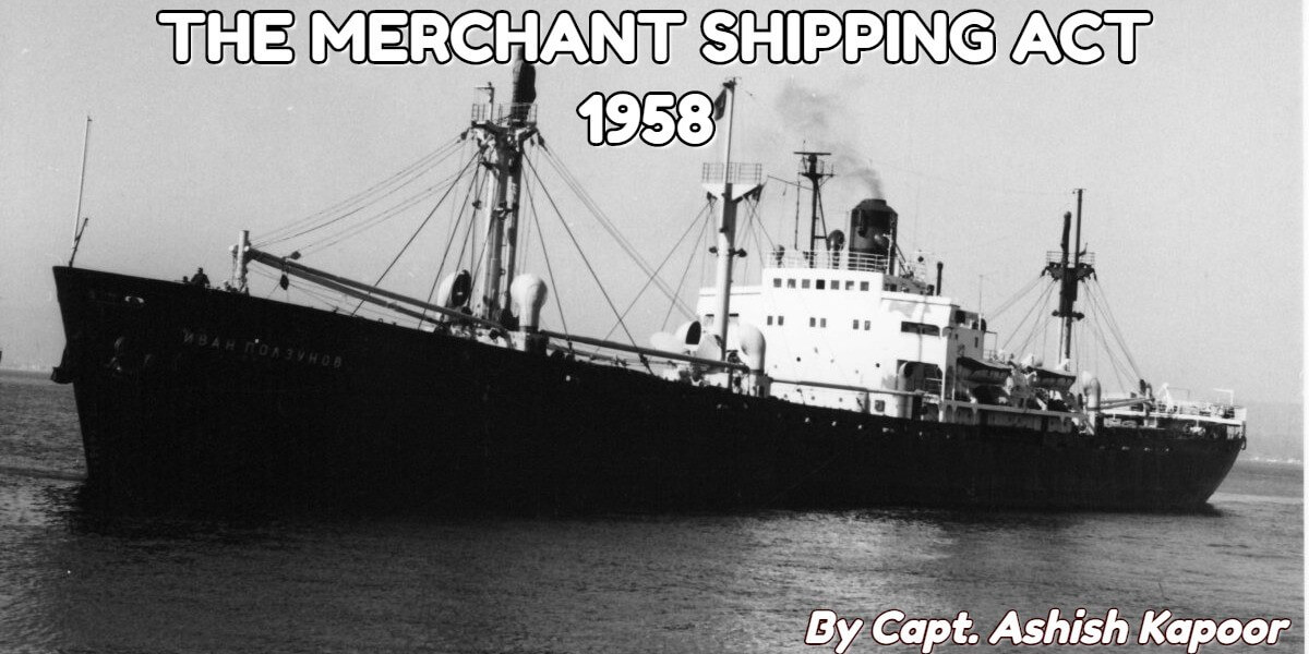 The provisions of MERCHANT SHIPPING ACT 1958 regarding Certificate of Registry